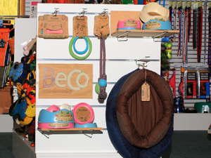 An environmentally friendly range of toys, bowls and beds