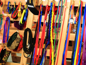 A good selection of quality collars and leads made in the Maniototo